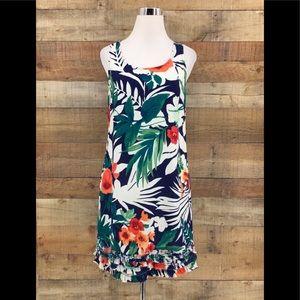 Tommy Bahama Women's Dress Linen Hawaiian Floral